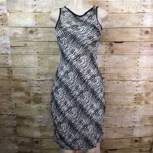 Betsey Johnson Sheer Zebra Print Bodycon Dress S